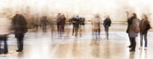 blurred view of museums