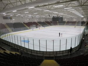 inside view of ice arena wales